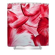 Red Swirls Background Shower Curtain