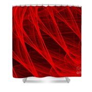 Red Threads  Shower Curtain