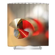 Red Three Quarter Shower Curtain