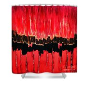 Red Thunder Clash II Shower Curtain