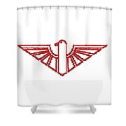Red Thunderbird 1 Shower Curtain