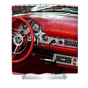 Red Thunderbird Dash Shower Curtain