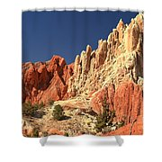 Red To White To Blue Shower Curtain