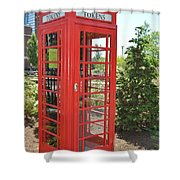 Red Token Booth Shower Curtain