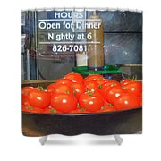 Red Tomatoes Shower Curtain