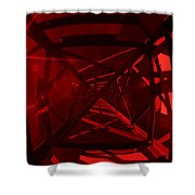 Red Tower Shower Curtain
