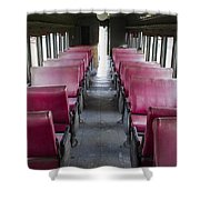 Red Train Seats Shower Curtain
