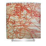 Red Treads 2 Shower Curtain