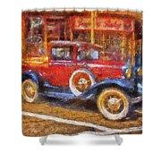 Red Truck Photo Art Shower Curtain