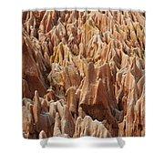 red Tsingy Madagascar 2 Shower Curtain
