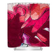 Red Tubes Shower Curtain