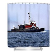 Red Tug Shower Curtain