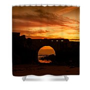 Red Twilight I Shower Curtain