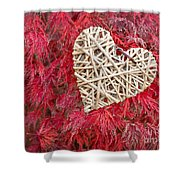 Red Valentine Shower Curtain