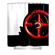 Red Valve  Shower Curtain by Bob Orsillo