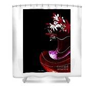Red Vase Shower Curtain