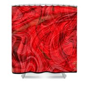 Red Veil Abstract Art Shower Curtain
