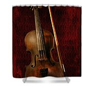 Red Violin Shower Curtain