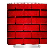 Red Wall Shower Curtain by Semmick Photo