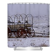 Red-wheeled Wagon   #0662 Shower Curtain