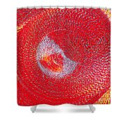 Red Whirlpool Shower Curtain