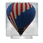 Red White And Balloon 2 Shower Curtain