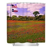 Red White And Beautiful Shower Curtain