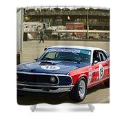 Red White And Blue Mustang Shower Curtain