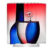 Red White And Blue Reflections And Refractions Shower Curtain by Susan Candelario
