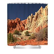 Red White And Blue Sky Shower Curtain