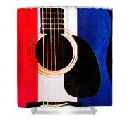 Red White And Blues Shower Curtain