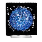 Red  White  Blue  Abstract Shower Curtain