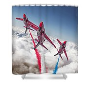 Red White Blue  Shower Curtain