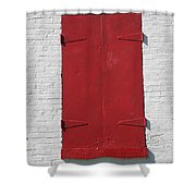 Red Window Shower Curtain