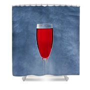 Red Wine With Storm Clouds Shower Curtain