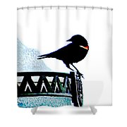 Red Wing Posed Shower Curtain