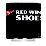 Red Wing Shoes 2 Shower Curtain
