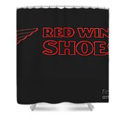 Red Wing Shoes Painted Shower Curtain