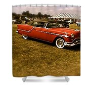 Red With Black Soft Top Shower Curtain