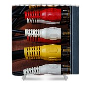 Red Yellow And White Cables Shower Curtain