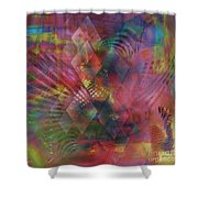 Redazzled - Square Version Shower Curtain