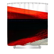 Redblackred Shower Curtain
