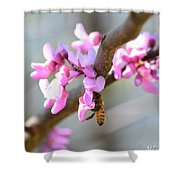 Redbud Pollinator Shower Curtain