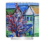 Redbud Tree At West Cape May Shower Curtain