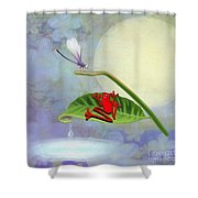 Redfrog And The Dragonfly Shower Curtain