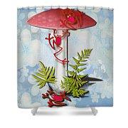 Redfrog And The Magic Mushroom Shower Curtain