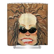 Ginger In Sunglasses Shower Curtain