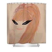 Redhead Woman Shower Curtain