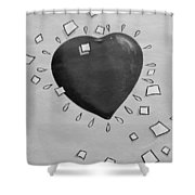 Redheart In Black And White2 Shower Curtain