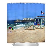 Redondo Beach Lifeguard  Shower Curtain